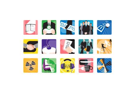 Joseph Daley - Icon illustrations for BALPA