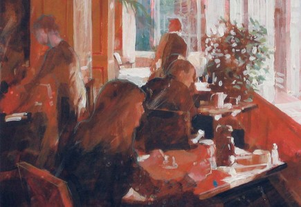 Paul Joseph-Crank illustrator breakfast cafe illustration