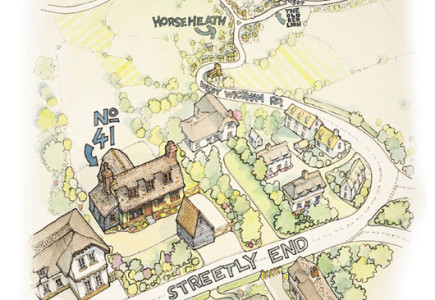 Richard Bowring - House moving illustration