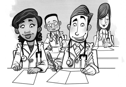 Russ Daff - Young doctors cartoon