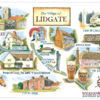 Sean Hogan - Illustrated map of Lidgate
