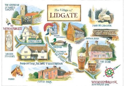 Sean Hogan - Illustrated map of Lidgate