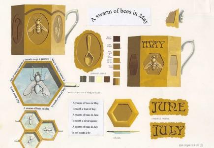 Sean Hogan - Illustrator - Bees mug illustration