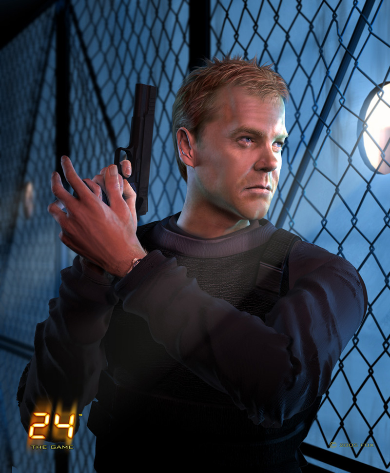 Jason Riley - Jack Bauer, Cover Art for 24 The Game. Maya, Z-brush and Photoshop.