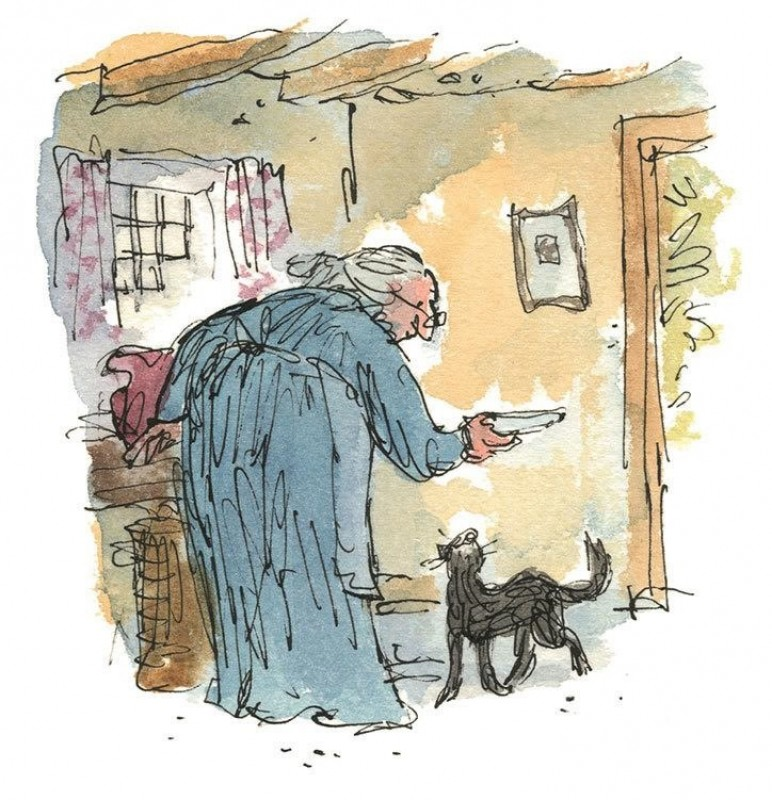 Quentin Blake's original illustrations for Beatrix Potter's The Tale of Kitty-in-Boots