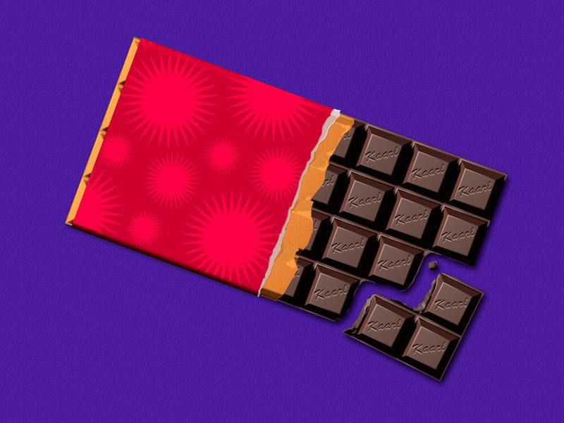Kaarl Hollis - Illustrator - Digital illustration of chocolate bar