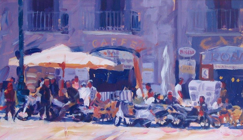 Paul Joseph-Crank illustrator Cafelife, Naples