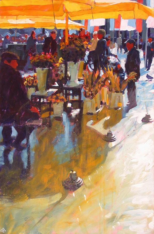 Paul Joseph-Crank – Illustrator - Flower Sellers, Krakow