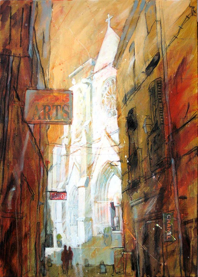 Paul Joseph-Crank – Illustrator - Church, Montpellier