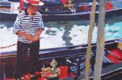 Paul Joseph-Crank - Gondoliers, Venice I
