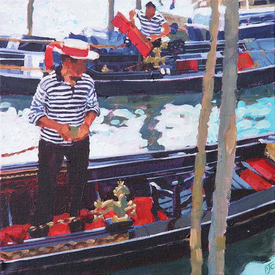 Paul Joseph-Crank – Illustrator - Gondoliers, Venice I