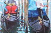 Paul Joseph-Crank - Gondoliers, Venice III