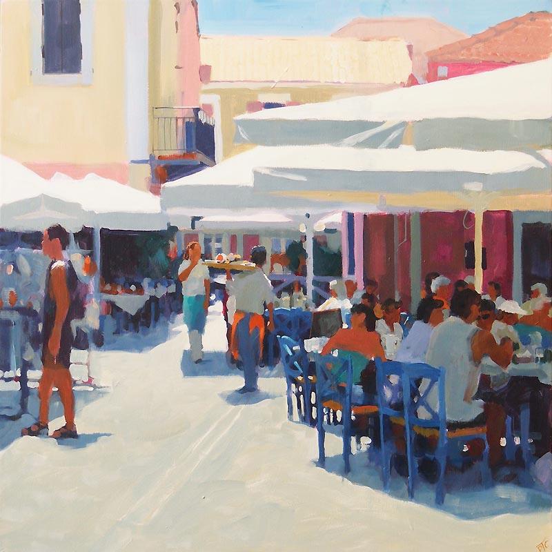 Paul Joseph-Crank – Illustrator - Harbour Cafe, Fiskado