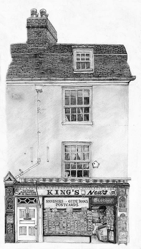 Paul Margiotta - Illustrator - Kings Newsagent, Cambridge