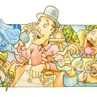 Richard Bowring - Cartoon for BP Graduate Recruitment