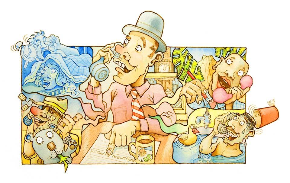 Richard Bowring - Illustrator - Cartoon illustration for BP Global Graduate Recruitment