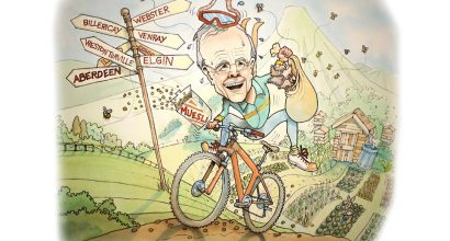 Richard Bowring - Caricature of London based company director