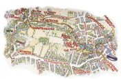 Richard Bowring - Map of Grantchester Meadows for Scudamores