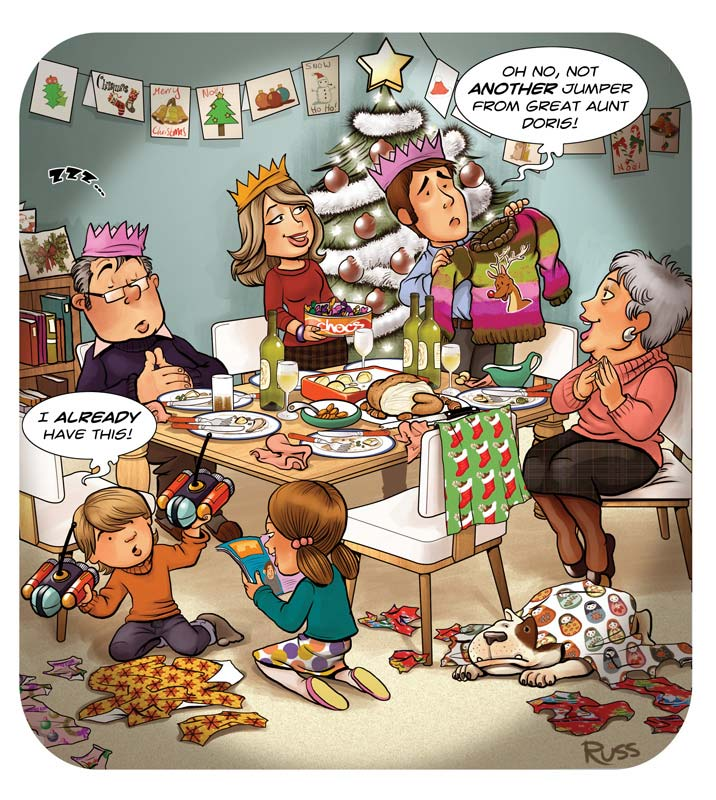 Russ Daff - Illustrator - Christmas recycling