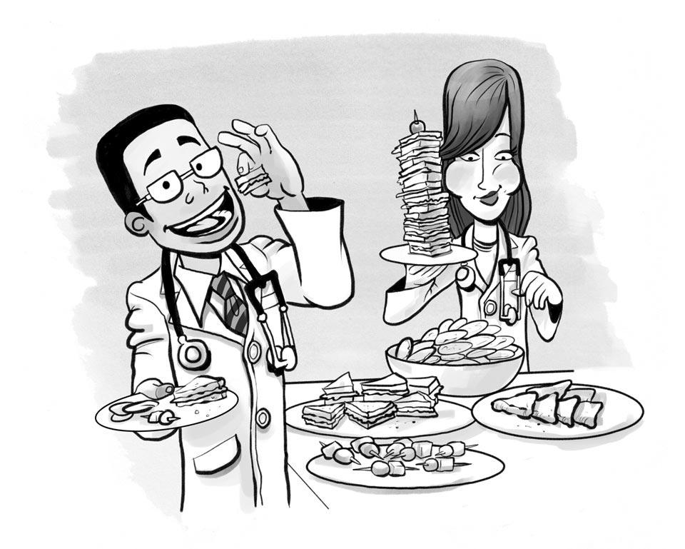Russ Daff - Illustrator - Young doctors cartoon 02