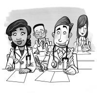Russ Daff - Young doctors cartoon