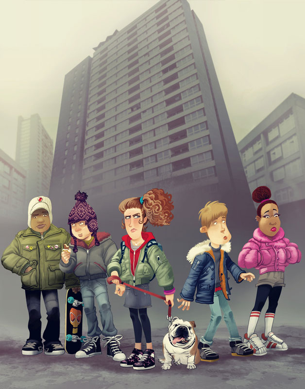 Russ Daff - Illustrator - Gang personal work exploring a more urban Famous Five
