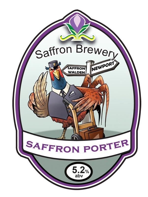 Russ Daff - Illustrator - Saffron Porter beer label/pump clip