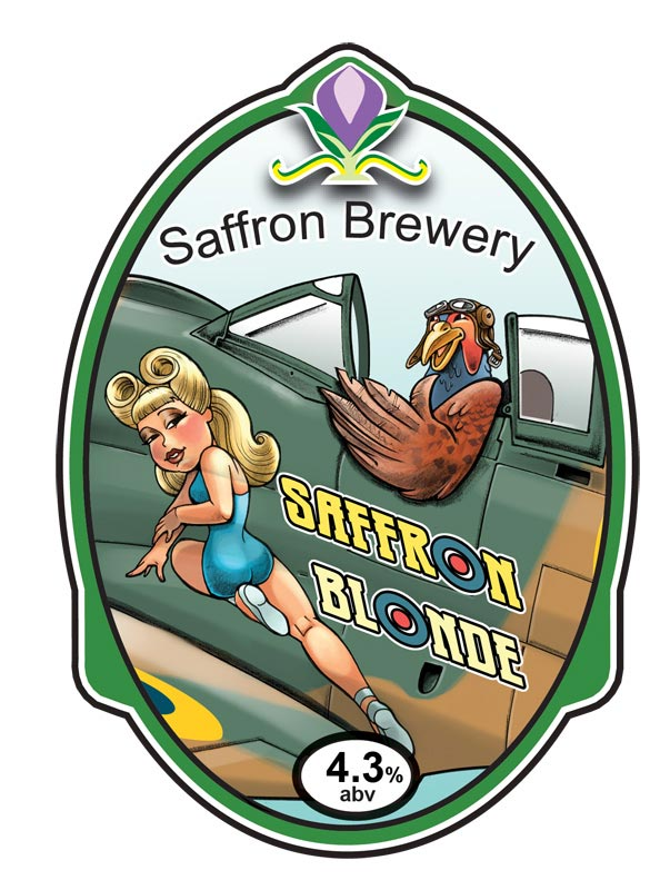 Russ Daff - Illustrator - Saffron Blonde beer label/pump clip