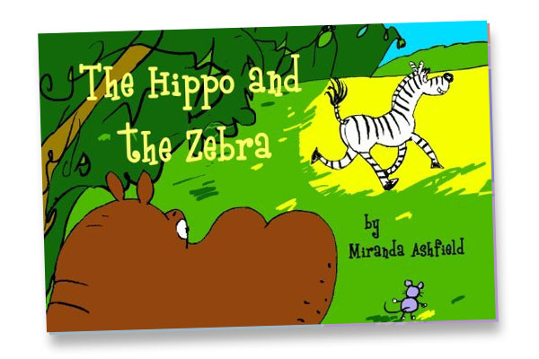 Witty children's book The Hippo and the Zebra illustrated by David Severn of Cambridige Illustrators