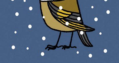 Joel Langlois - Illustrator - Garden Birds Xmas Goldfinch