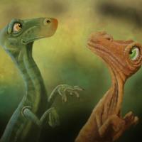 Joel Langlois - Illustrator - Two Dinos