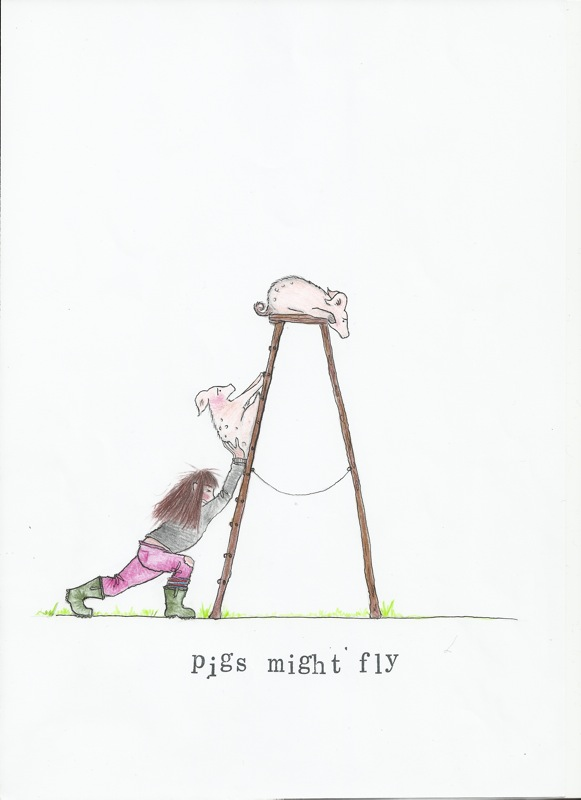 Rachel Thompson illustrator - Pigs Might Fly
