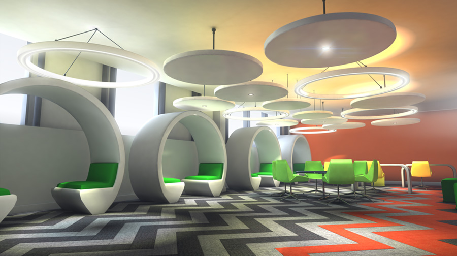 Jason Riley - Interior Visualisation for Alium Design. Maya, Photoshop