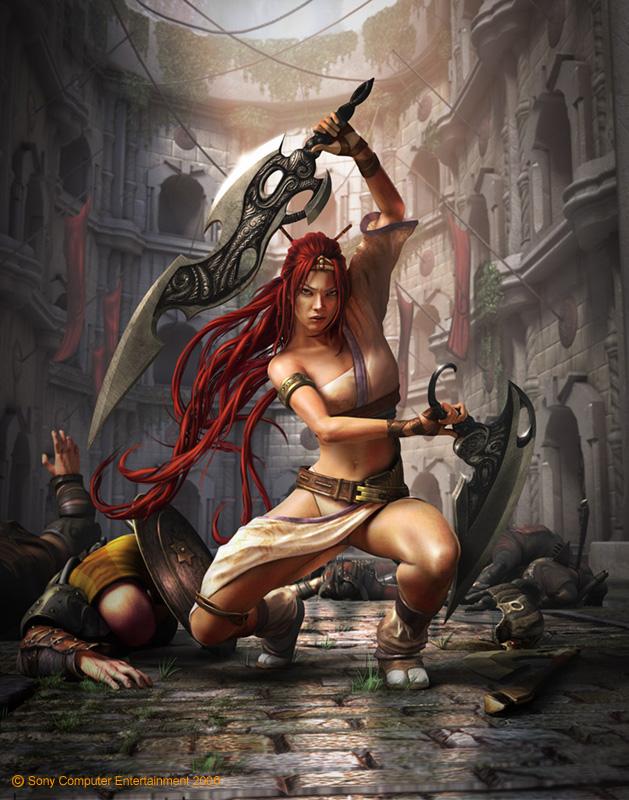 Jason Riley - Asian box art for Heavenly Sword. Maya, Photoshop.