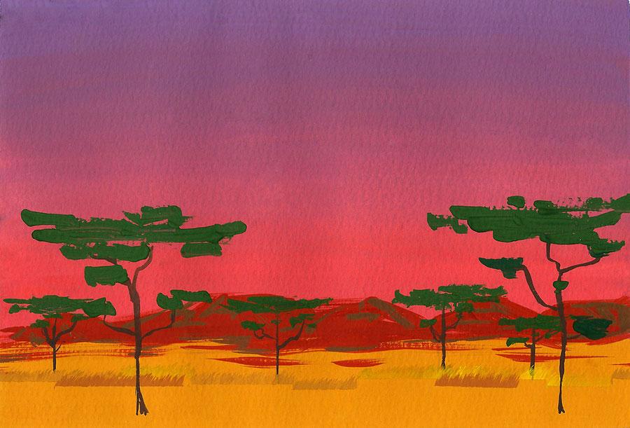 Naomi Chamberlain - Cambridge Illustrators - Loto's land.