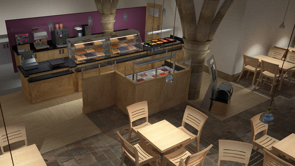 Jono Mawford - Café area  Durham Cathedral