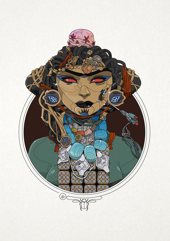 Mask Repair - Nic Brennan - Cambridge Illustrators