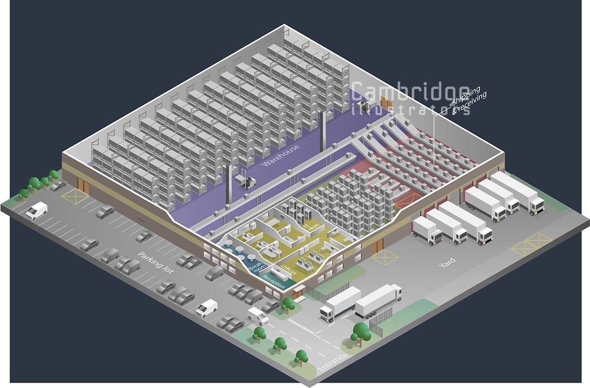 Joseph Daley - distribution facility - Cambridge Illustrators