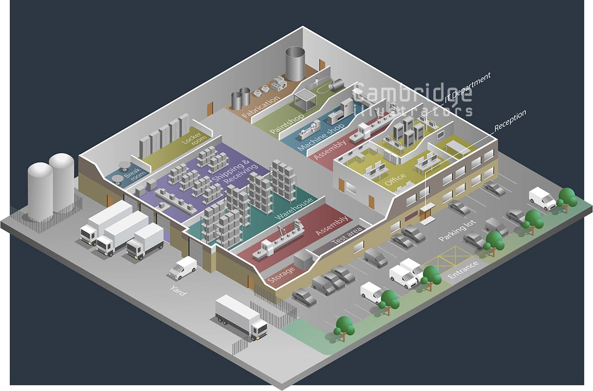 Joseph Daley - manufacturing facility - Cambridge Illustrators